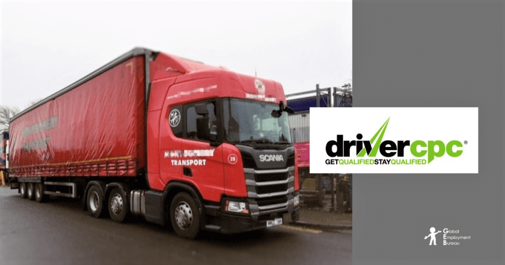 A Red HGV Truck image for Driver CPC post