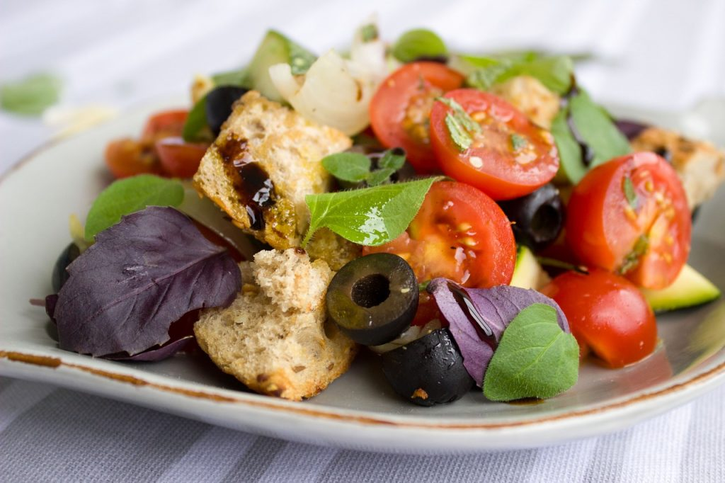 Healthy salad for lorry driver to eat
