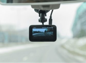 a dashcam is recording the driving journey