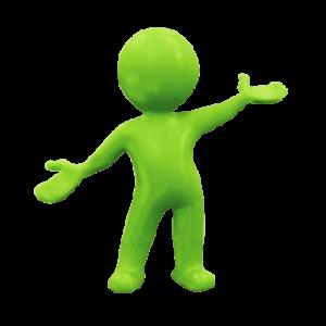 Global green man logo